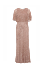 Nude Beated Mesh Gown