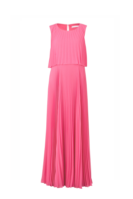 Pink Pleated Chiffon Gown / VILNIUS-0