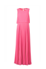 Pink Pleated Chiffon Gown / VILNIUS
