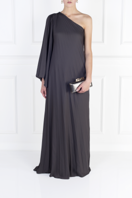 One-shoulder Crepe Gown-1