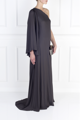 One-shoulder Crepe Gown-2