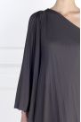 One-shoulder Crepe Gown