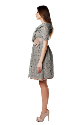 Grey Lace Dress -1
