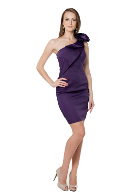 Deep Purple Asimetric Dress -0