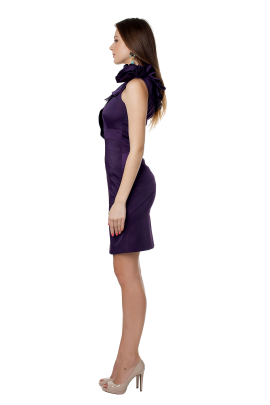 Deep Purple Asimetric Dress -1