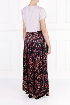 Black Poppies Maxi Skirt-3