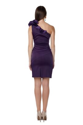 Deep Purple Asimetric Dress-2