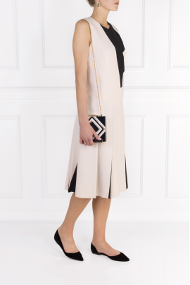 Two-tone Wool-crepe Dress / VILNIUS-2