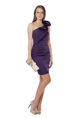 Deep Purple Asimetric Dress -3