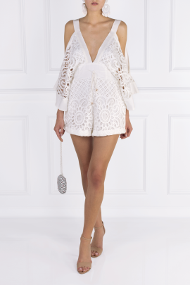 Keep Me There White Playsuit-1