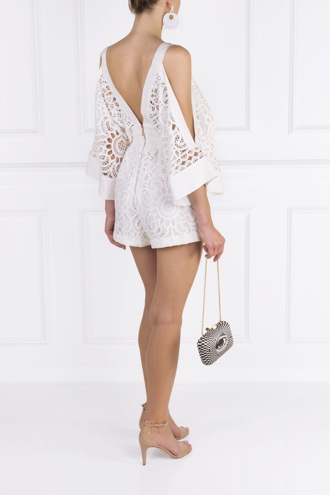 Keep Me There White Playsuit