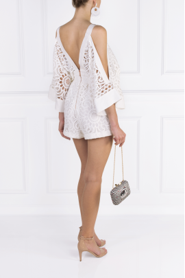 Keep Me There White Playsuit-4