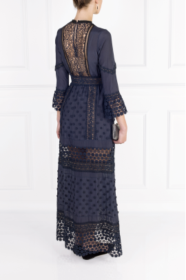 Navy Long Sleeved Dress-3