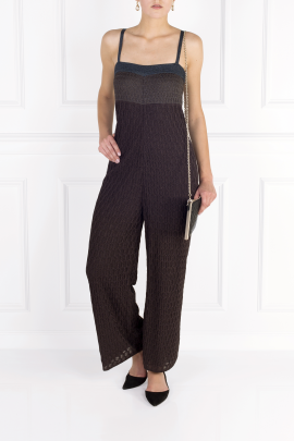 Navy Knit Jumpsuit-0