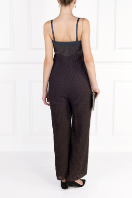 Navy Knit Jumpsuit-2