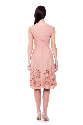 Flower Cutting Midi Dress-2