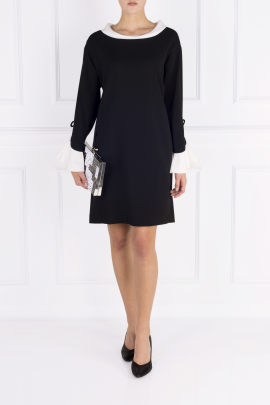 Black Moss Crepe Dress -1