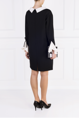 Black Moss Crepe Dress-3