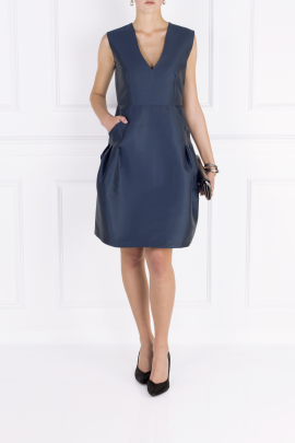 Eliza Satin-twill Dress-1
