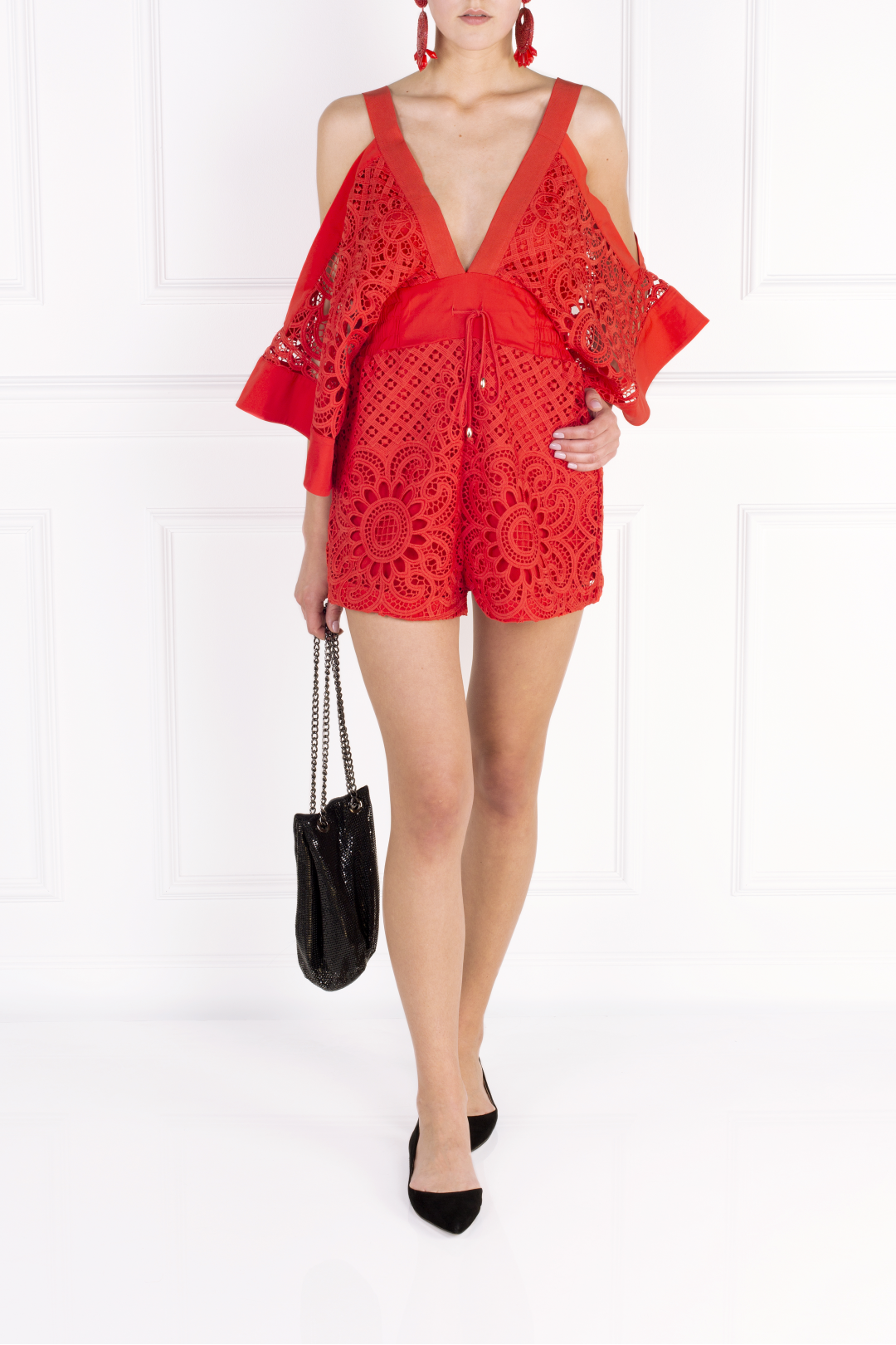 Keep Me There Red Playsuit