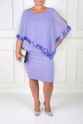 Lavender Dress With Sequin Trim-1
