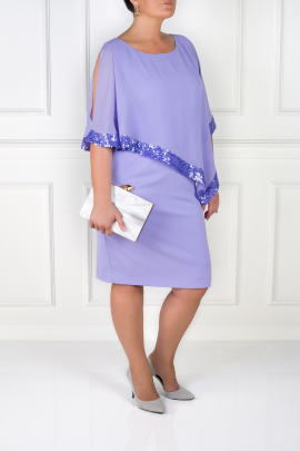 Lavender Dress With Sequin Trim-2