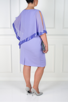 Lavender Dress With Sequin Trim-3