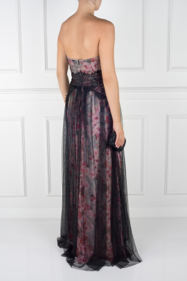 Floral-print Tulle Gown -3